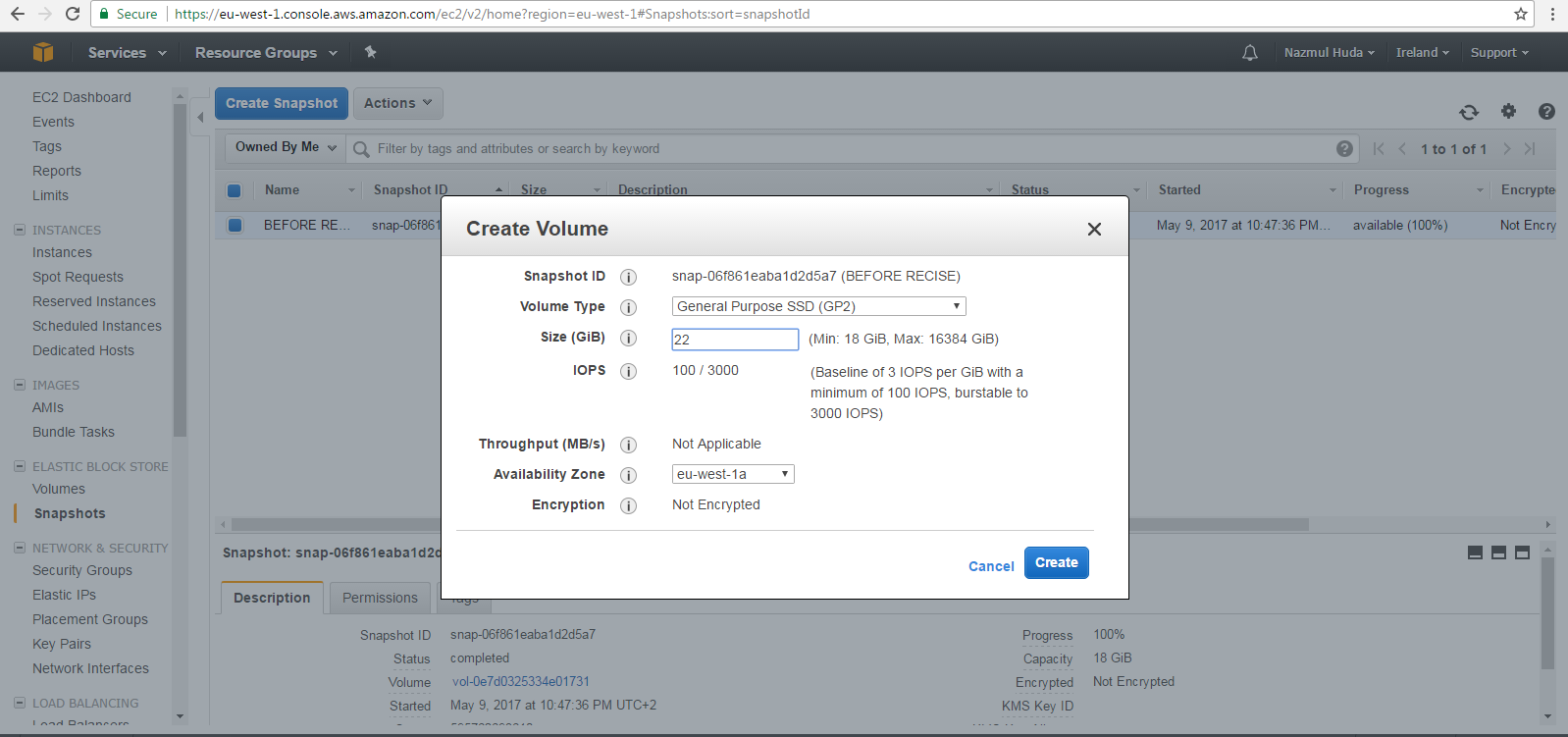 Resize the disk volume of a Linux EC2 Virtual machine